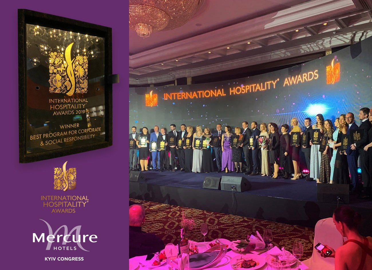 Mercure Kyiv Congress Hotel став переможцем конкурсу International Hospitality Awards!