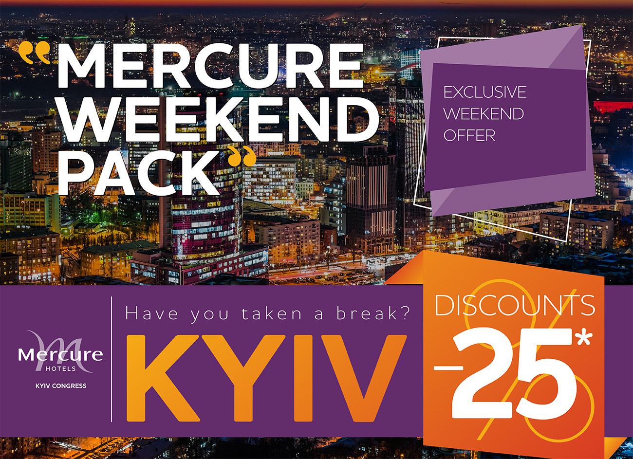 Mercure Weekend Pack is available right now!