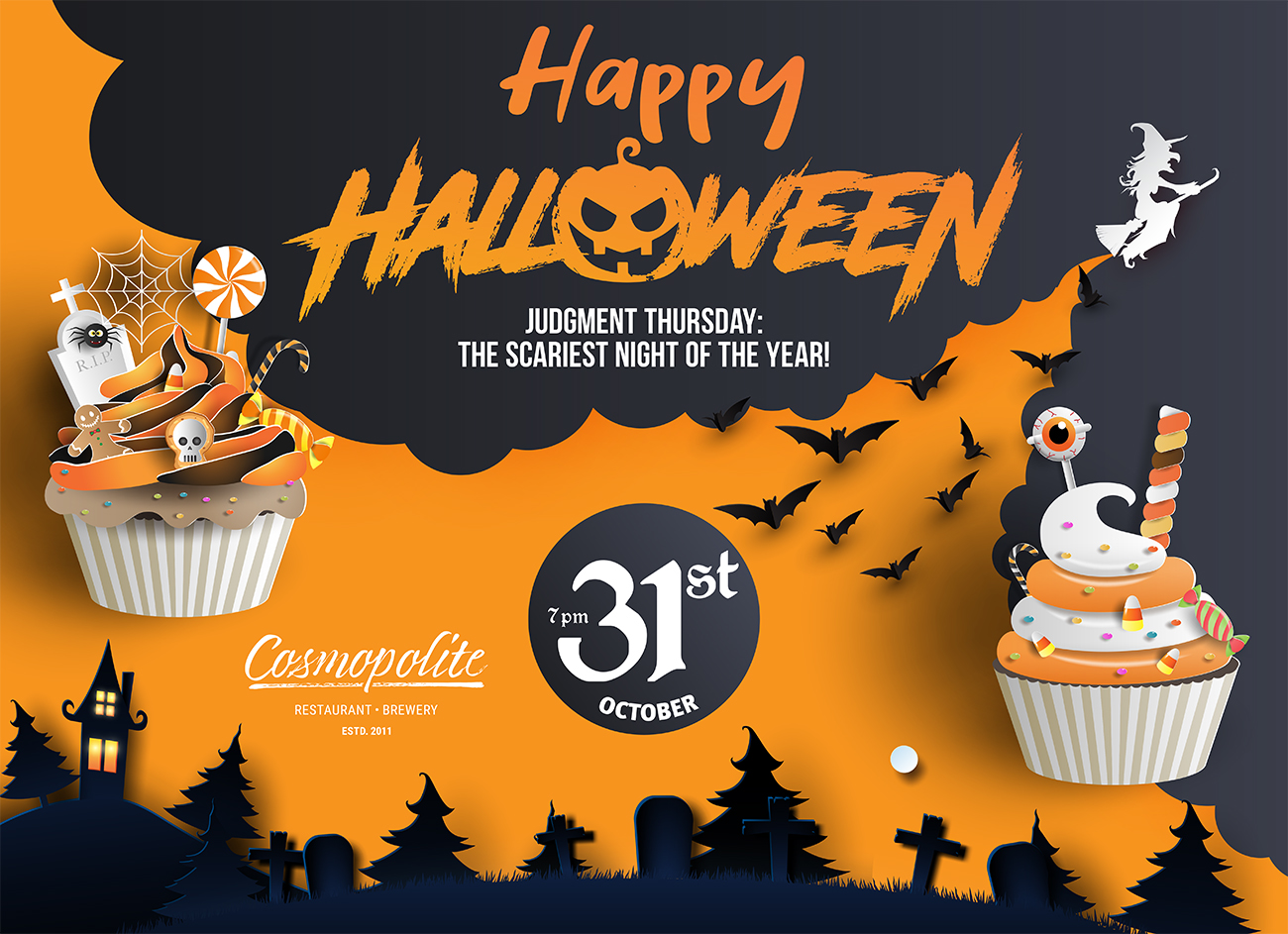 Halloween'2019 Party at Cosmopolite restaurant-brewery!