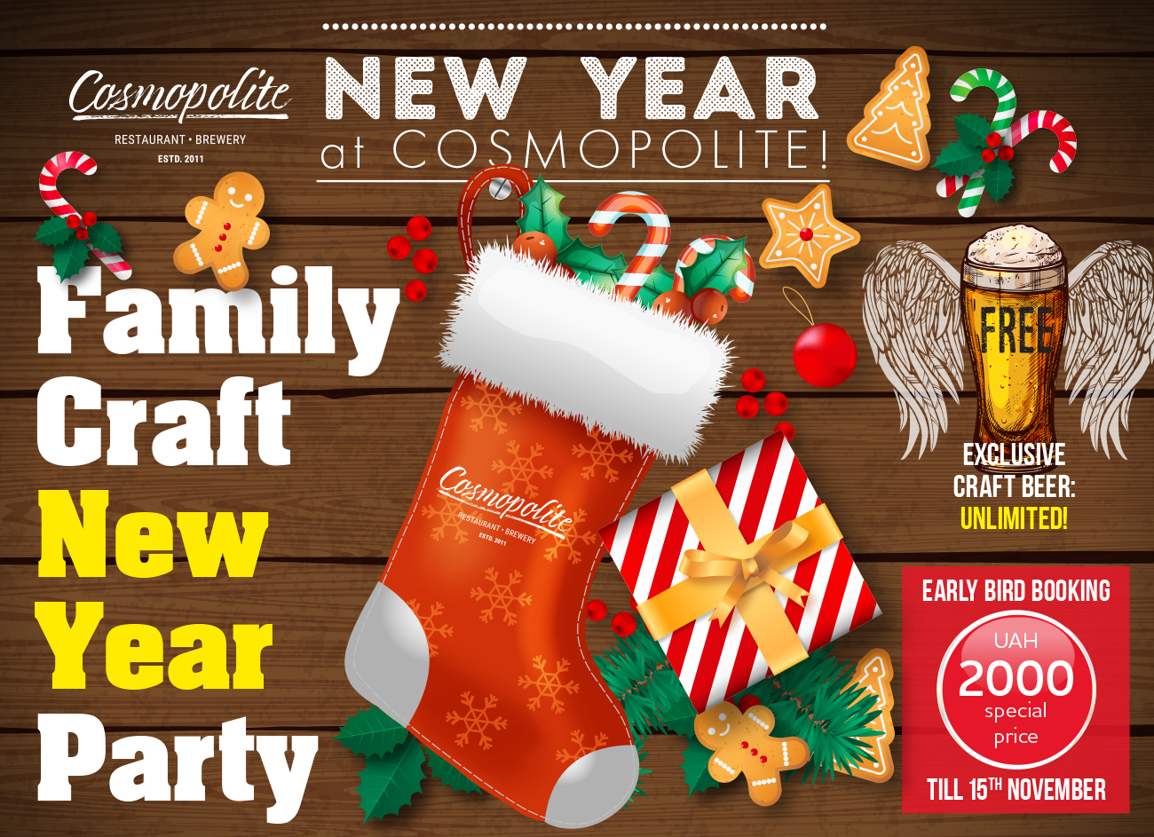 Happy New Beer Party 2020: Cosmopolite restaurant-brewery
