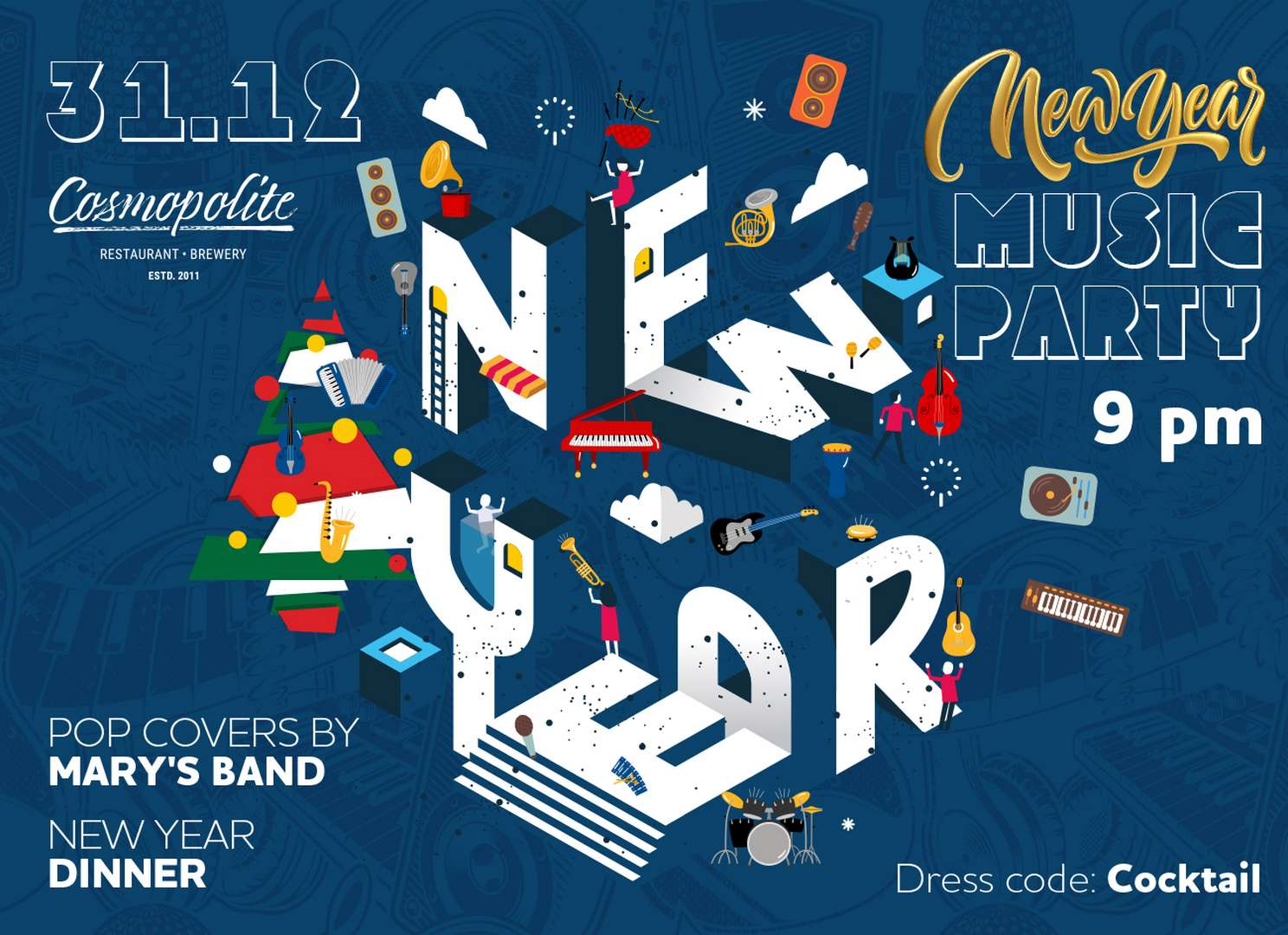 New Year Music Party 2021: Special festive offer for guests of Mercure hotel!