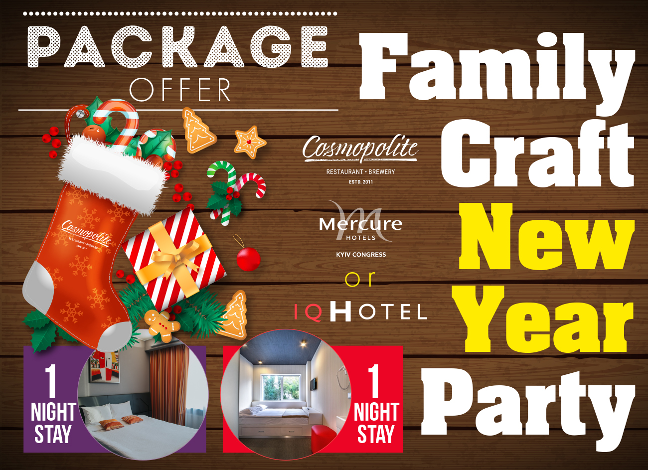 Package Offer: New Year Party and hotel accomodation