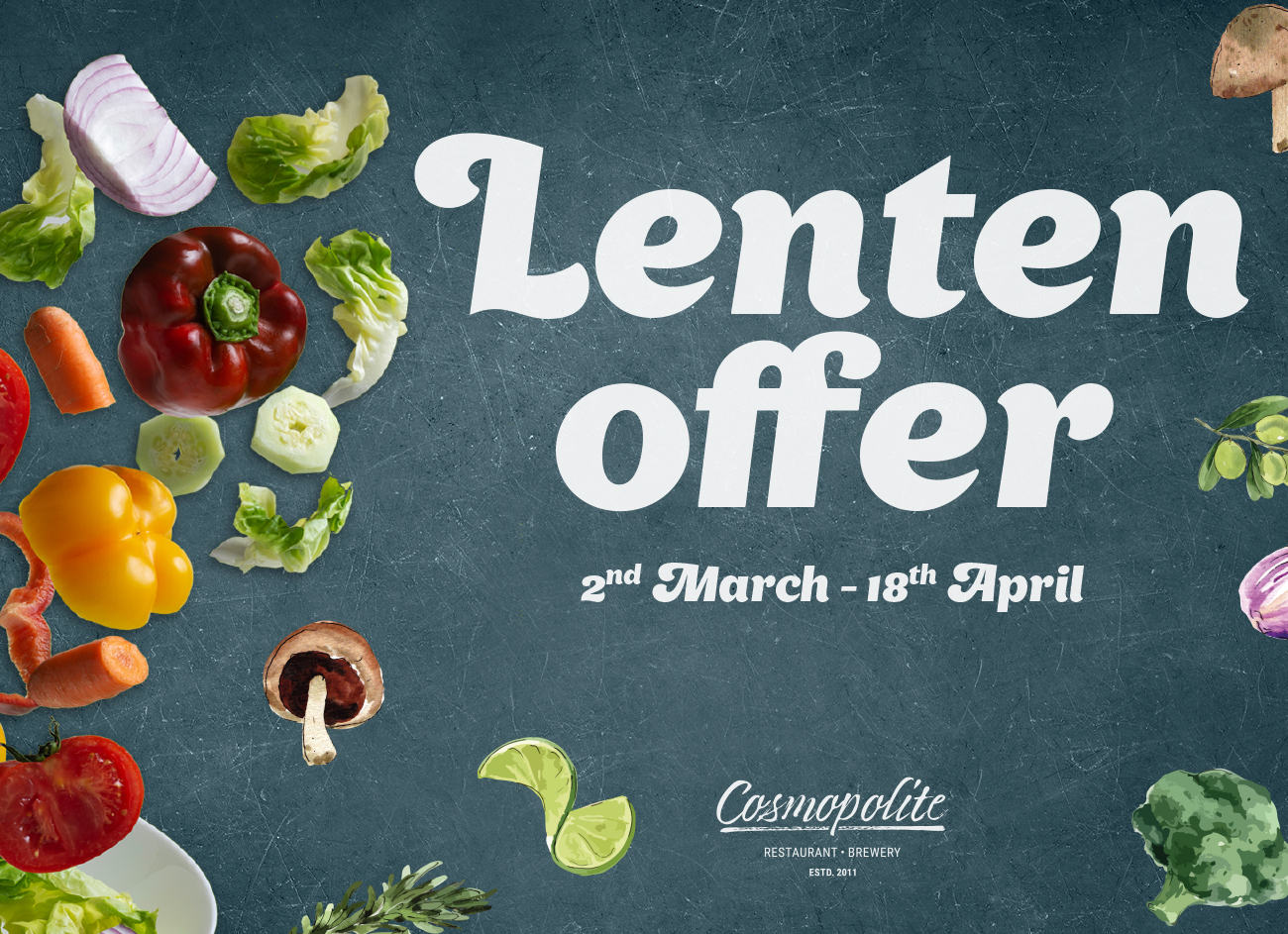 Introducing the Lenten offer at our restaurant